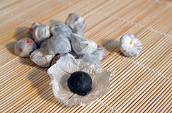Chinese tea pu-er. On a bamboo mat Royalty Free Stock Photography