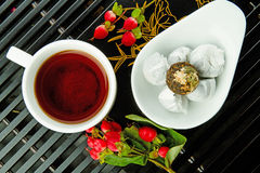 Chinese tea pu-er Stock Images