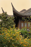 Chinese Tea Room. With yellow flowers Royalty Free Stock Image