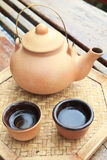 Chinese Tea Set. With teapot and cup Royalty Free Stock Photo