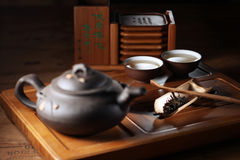 Chinese tea set royalty free stock photography