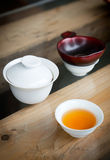 Chinese tea set Stock Photo