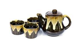 Chinese tea set. On white background Stock Image