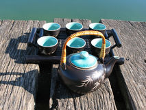 Chinese tea set Stock Photography