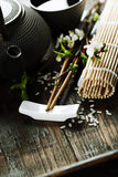 Chinese Tea Set and chopsticks Royalty Free Stock Photos