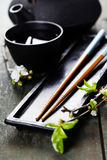 Chinese Tea Set and chopsticks Royalty Free Stock Photography