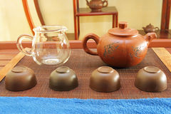 Chinese Tea Set. Close-up shot of Chinese Tea Set royalty free stock images