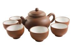 Chinese Tea set isolated Stock Photo