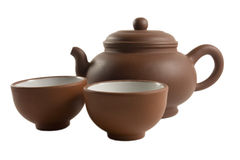 Chinese Tea set isolated Stock Photo