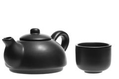 Chinese Tea Set with Teapot and cup Stock Photography