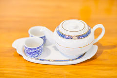 Chinese Tea Set with Teapot and cup Royalty Free Stock Photos