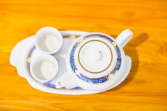 Chinese Tea Set with Teapot and cup Royalty Free Stock Photo