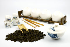 Chinese Tea Set with white background. Chinese Tea Set,chinese tea set with tray,chinese tea set how to use,chinese tea set tray,chinese tea set in box,chinese Stock Image