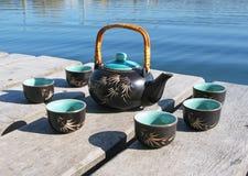 Chinese tea set Stock Image