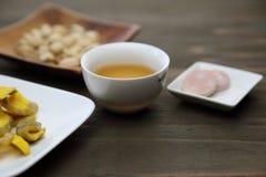 Chinese tea and snacks Stock Photo