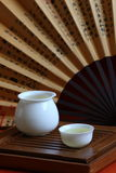 Chinese tea and tea set. A traditional chinese tea set Royalty Free Stock Photography