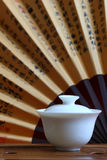 Chinese tea and tea set. A traditional chinese tea set Stock Photography