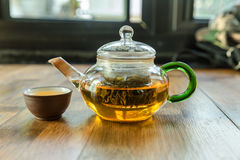 Chinese tea and teapot Stock Image