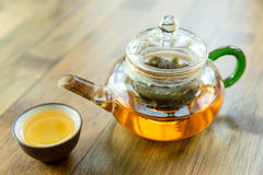 Chinese tea and teapot Stock Images
