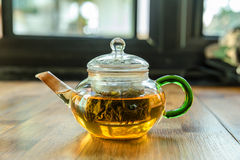 Chinese tea and teapot Royalty Free Stock Photos