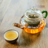 Chinese tea and teapot Stock Photos