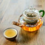 Chinese tea and teapot Stock Photos