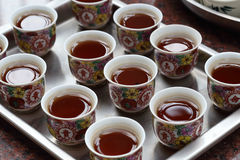Chinese tea at the temple. For worship buddhism Royalty Free Stock Image