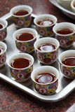 Chinese tea at the temple. For worship buddhism Royalty Free Stock Images