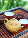 Chinese tea on the wooden table Royalty Free Stock Photos