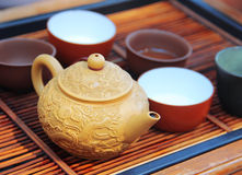 Chinese tea on the wooden table Stock Image