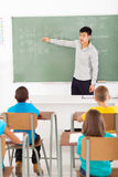 Chinese teacher teaching Stock Image