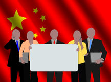 Chinese team with flag Royalty Free Stock Photography