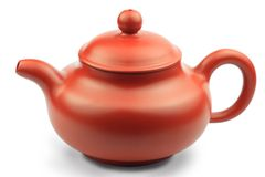 Chinese teapot. Isolated on white background Stock Photo