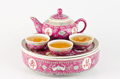 Chinese teapot. Traditional Chinese teapot isolated on white background royalty free stock photos