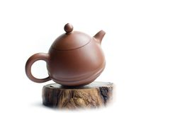 Chinese teapot. In white background stock photos