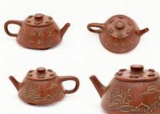 Chinese teapot 4 views Royalty Free Stock Photos