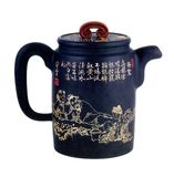 Chinese teapot. A brown traditional chinese teapot Stock Photography