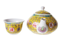 Chinese Teapot And Cup Royalty Free Stock Images