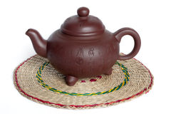 The Chinese teapot from clay Royalty Free Stock Photos