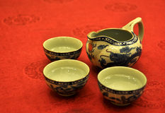 Chinese teapot and cup Royalty Free Stock Photo