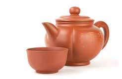 Chinese teapot and cup Royalty Free Stock Photos