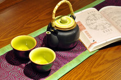 Chinese teapot and cup Stock Photography