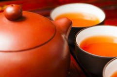 Chinese  teapot and  cup Stock Images