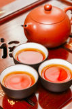Chinese  teapot and  cup Stock Image