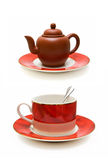 Chinese teapot and Luxury coffee cup Royalty Free Stock Photography