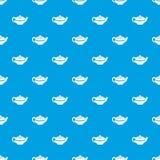 Chinese teapot pattern seamless blue stock illustration