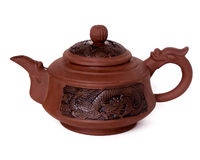Clay teapot Stock Image