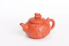 Chinese teapot from red clay Stock Images