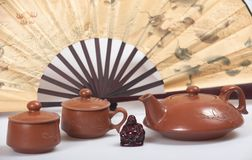 Chinese teapot set Stock Photography