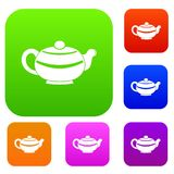 Chinese teapot set color collection Stock Image